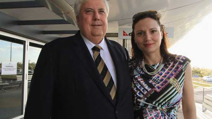 Clive Palmer with wife Anna. She's currently in hospital about to give birth.