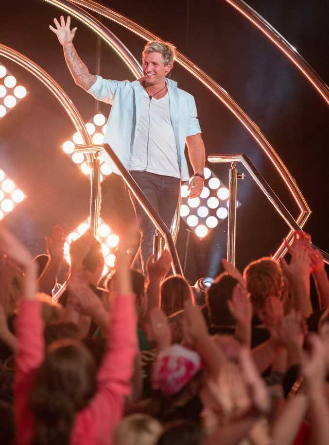 Caleb greets fans at Dreamworld.