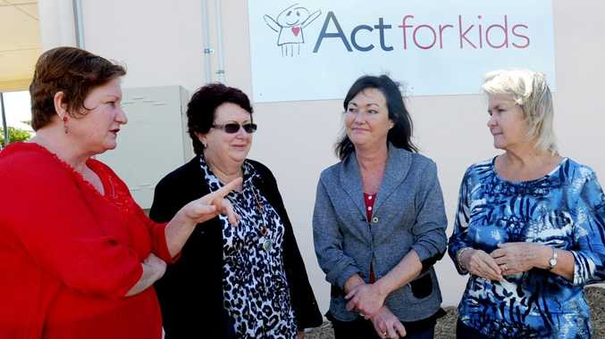 Act for Kids prgram manager Caterina Schulz, acting manager child safety Di McDonnell, state Assistant Minister for Child Safety Tarnya Smith and Act for Kids regional manager Debra Doherty.