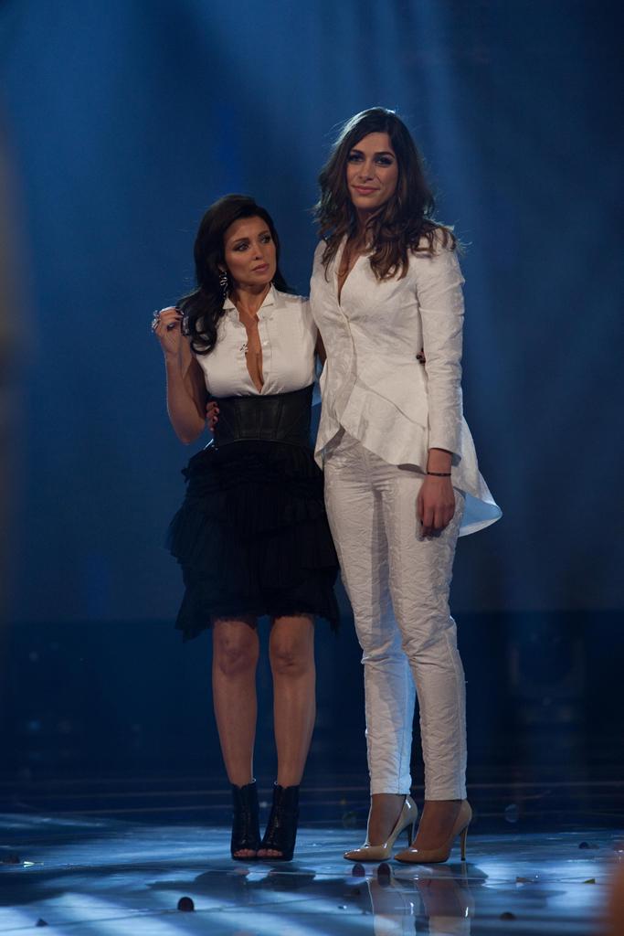 Cat Vas with X Factor coach Dannii Minogue.