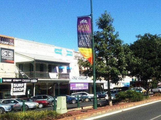 Grafton's Prince St has a bright new outlook thanks to new bright banners being installed.