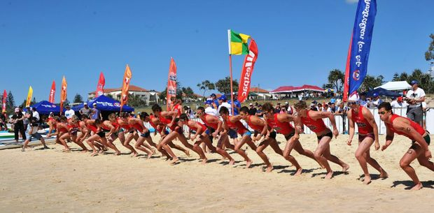 Competitors dash for the water in last year's Kellogg's Nutri-Grain Ironman and Ironwoman Series Trial.