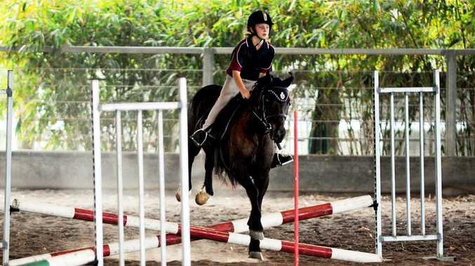 Fraser Coast Interschool Equestrian Championships - 40cm show jumping - St Helen's Ashley Shaw. Photo: Valerie Horton / Fraser Coast Chronicle