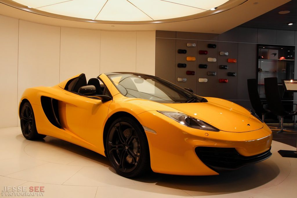 The McLaren MP4-12C Spider.