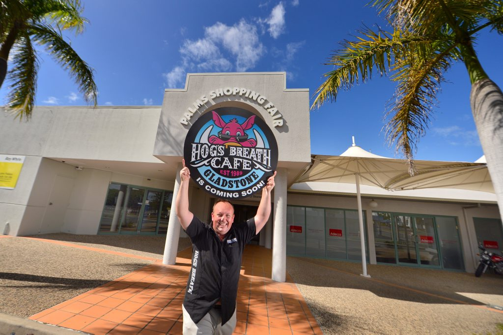 IT'S ON: Alex Staines is over the moon that he finally has a confirmed site for his new Hog's Breath Cafe in Goondoon Street.