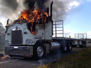 Suspected arson attack on three trucks