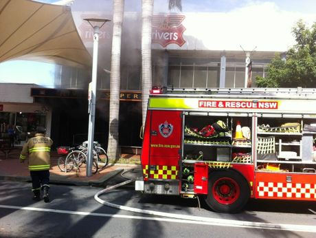Emergency services have raced to Coffs Harbour's city centre after a fire started in the Rivers store.
