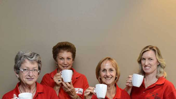 Jo Lysaught, Helen Morison, Elaine Ware and Donna West get ready for their High Tea at the Grafton District Services Club on September 15 to raise money for the Westpac Life Saver Helicopter.