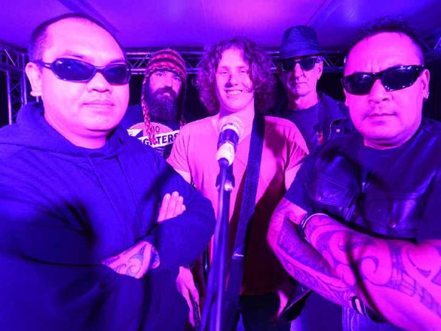SUCCESS-BOUND: Mild Ocean – Matt Hunt, Len E Johnson, Jayden Hebbard, Clint White and Jade Hunt – from Grafton TAFE will compete in the National Campus Band competition in Newcastle next week.