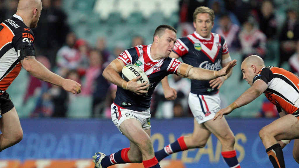 BOOT THROWER: James Maloney was caught throwing Kevin Gordon's lost boot into the crowd last weekend.