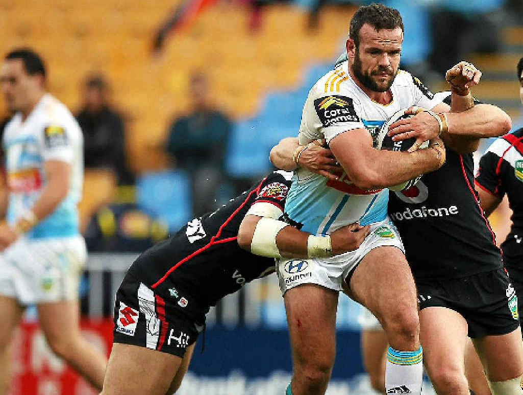 REQUIRED: Titans co-captain Nate Myles has been cleared of syndesmosis but remains in doubt for the clash against the Storm on Saturday.