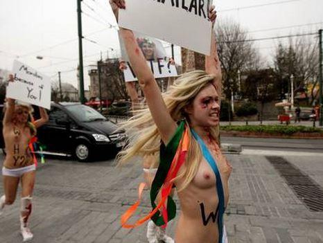 An image from the Femen documentary by Australian filmmaker Kitty Green, Ukraine is not a Brothel.