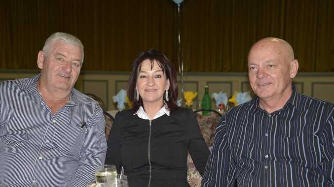 Mal Parker, Kerry and Norman Crisp, of the Stanthorpe Gremlins, at the BRL dinner.