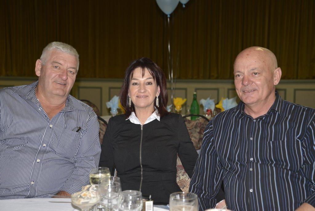 Image for sale: Mal Parker, Kerry and Norman Crisp, of the Stanthorpe Gremlins, at the BRL dinner.