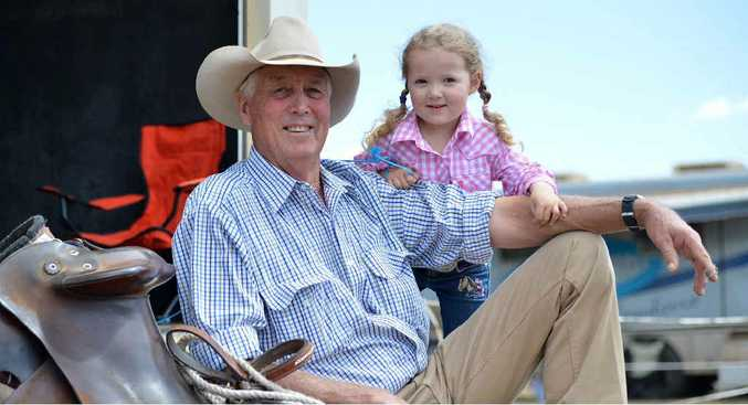 IN THE BLOOD: Campdraft competitor Wayne Knudsen will have granddaughter Riley cheering him at Kilkivan on this weekend.