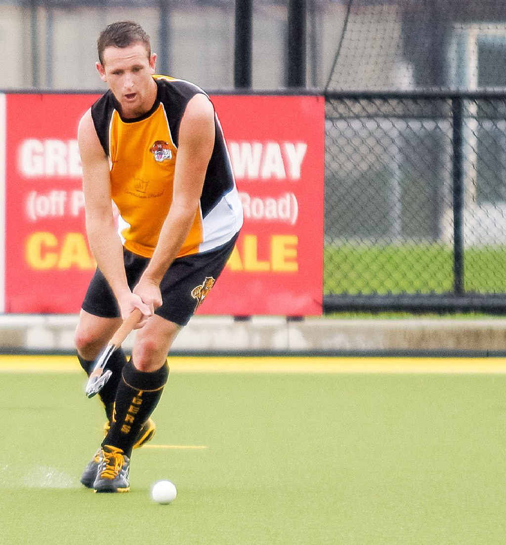 FINE FORM: Easts hockey player Chris Fazel is hoping to play in another Ipswich A-grade grand final before heading to England.