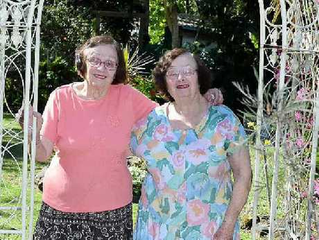 SETTLED IN: Local sisters Mary and Emily Betteridge have lived at Lismore for almost all their lives.