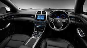 Inside the Holden Malibu CDX.