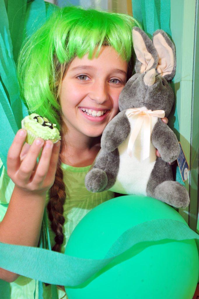 BILBY BONKERS: Kalkie State School student Evi Olsen gets green for National School's Bilby Day. Photo: Max Fleet / NewsMail