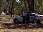 Police at a property, north of Maryborough, where a skull was unearthed by a contractor on Thursday.