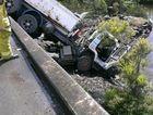 Truck crash at Reliance Creek Bridge on Mackay-Habana Rd.