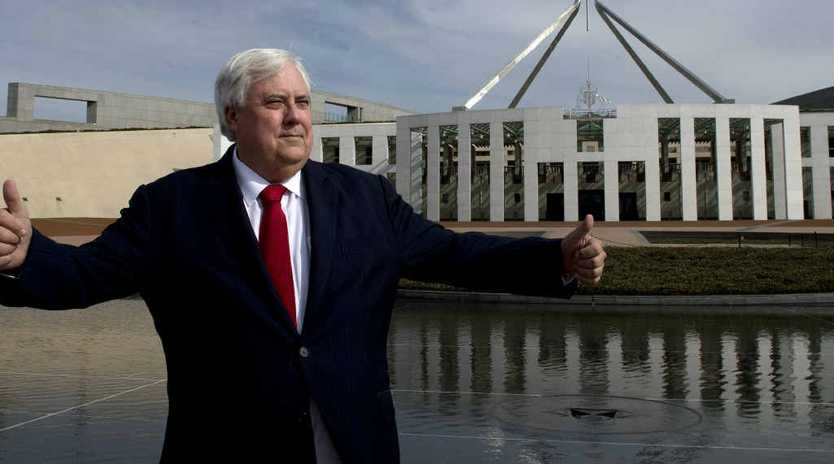 BIG IDEAS: Palmer United Party leader Clive Palmer has always had grandiose plans.