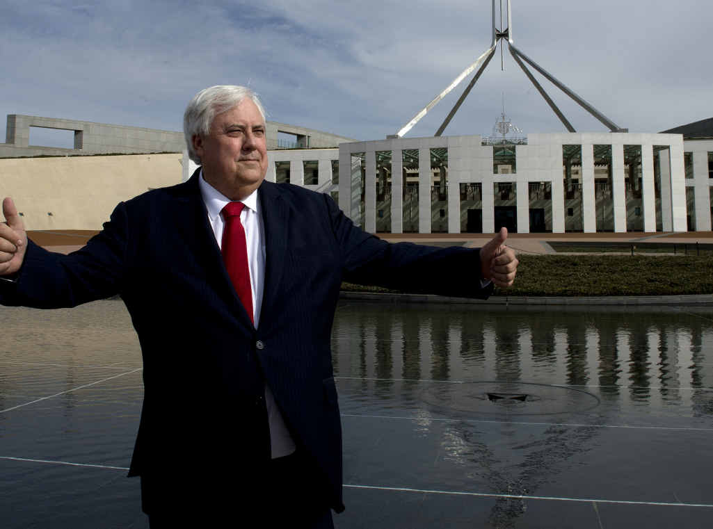 Clive Palmer will represent Fairfax in federal parliament