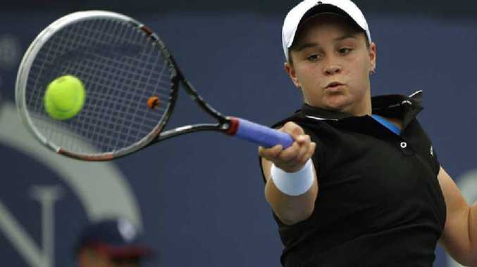 OUR ASH: Ipswich tennis prodigy Ash Barty in the US Open in New York.