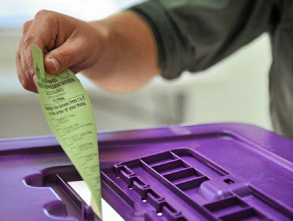 THE BALLOT BOX: the voting process when you go to cast a vote.