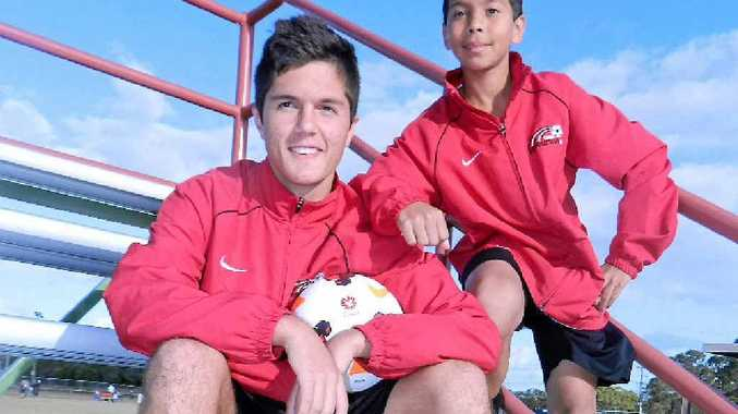 FUTURE STARS: Wide Bay Revolution players Matthew Mitchell and Jacob Advaney have been selected to play for Queensland Country in the upcoming national youth championships.