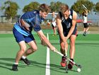 Young Brothers players Cameron Forsyth and Jacob Anderson train for Saturday night's hockey grand final against Norths.