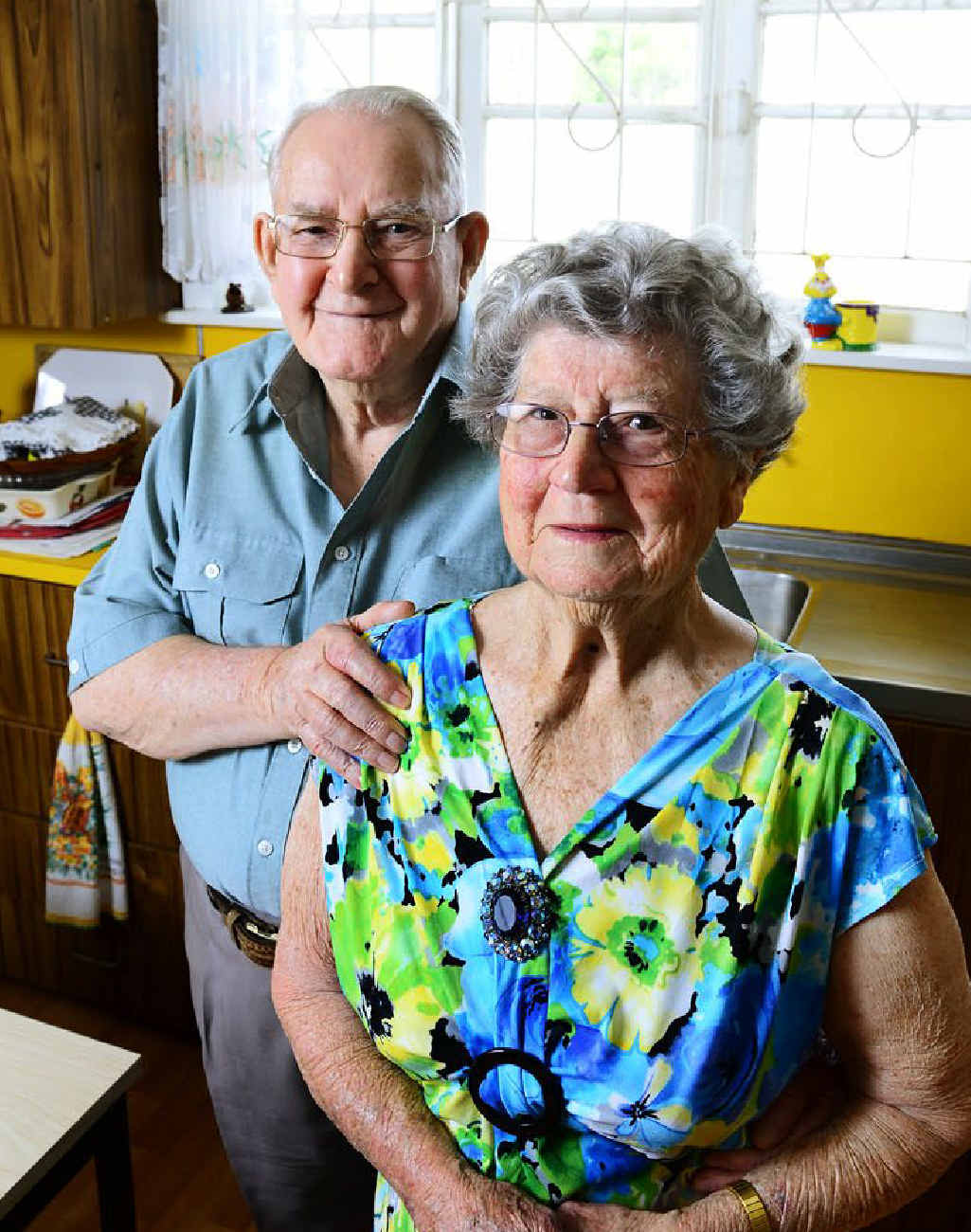 TOGETHERNESS: Leonard and Laura Halls celebrate 60 years of marriage.