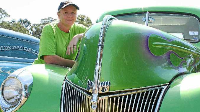 GREEN MACHINE: Trojans Rod and Custom Club secretary Dr Toni Pacey with her 1940 Ford Pick-up.