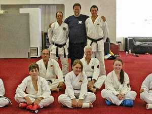 Karate kids show off their skills for international assessor