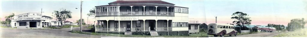 The Urangan Hotel, opposite Dayman Park.