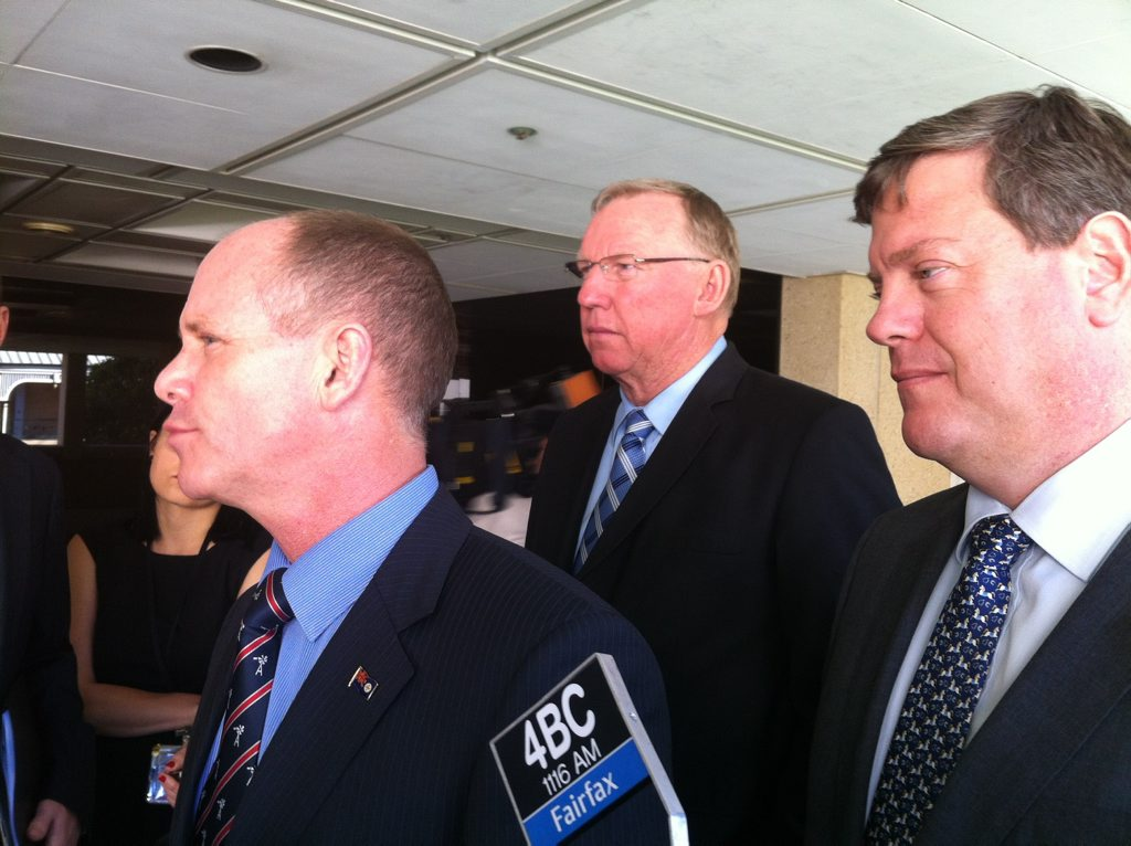 Premier Campbell Newman, Deputy Premier Jeff Seeney and Treasurer Tim Nicholls believe Queensland will have a better deal now their federal counterparts have won government.