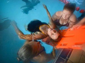 Swimmers preparing to make a splash