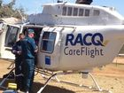 The RACQ CareFlight rescue helicopter crew flew to the scene of a trail bike crash in Boondooma, south-west of Maryborough.