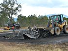 The clean-up is currently underway following the Peak downs Hwy crash this morning.