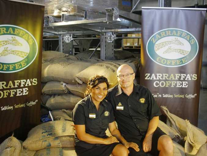 Successful Zarraffa's Coffee franchisees Jeanette and Terry Bambury.