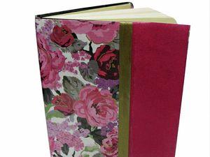 DIY floral notebook
