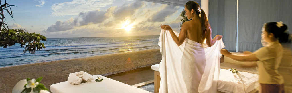 RELAX: Being pampered in a luxurious spa treatment room overlooking the ocean adds to your sense of well-being.