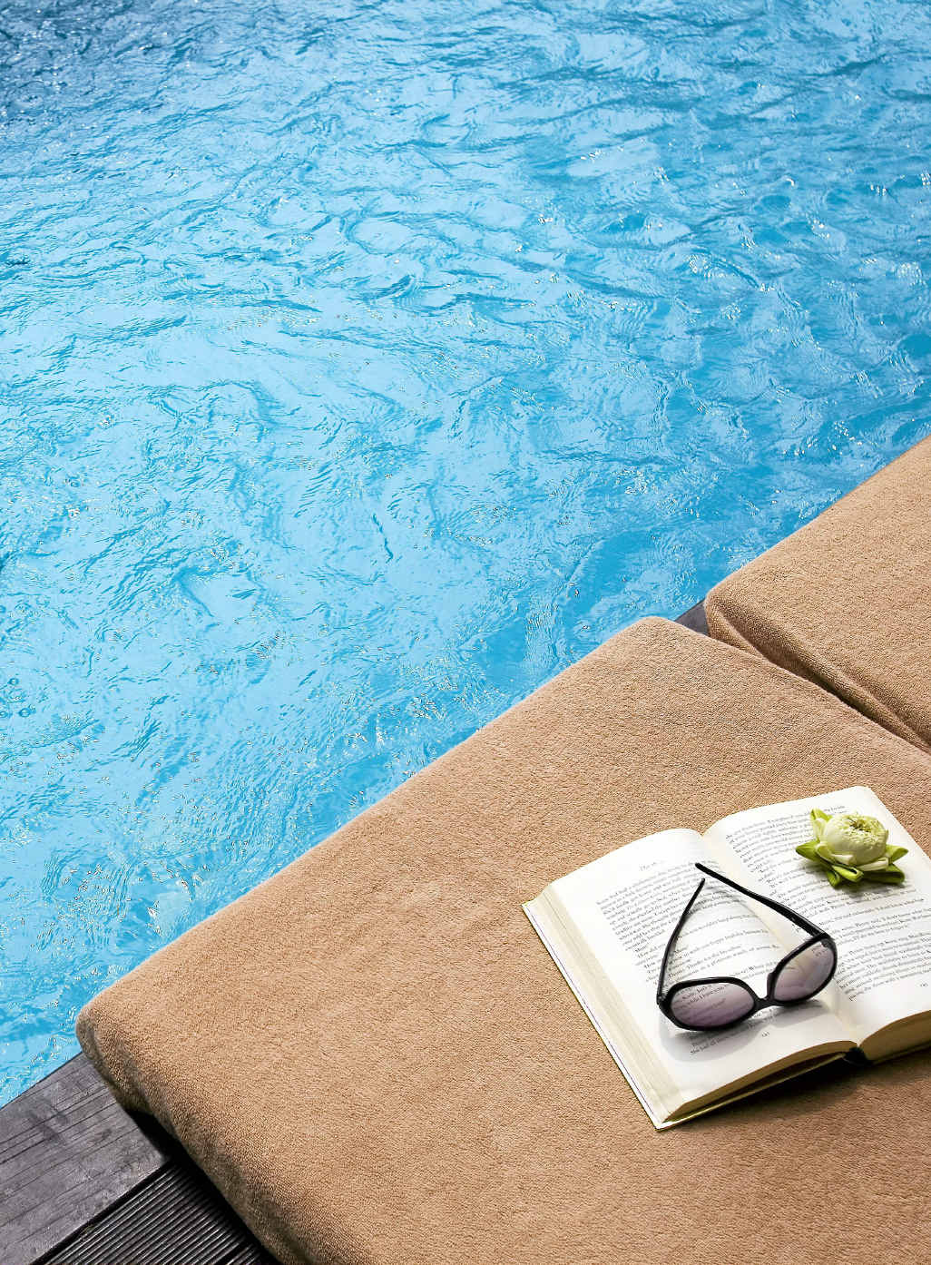 POOLSIDE: Butler service is available, naturally.