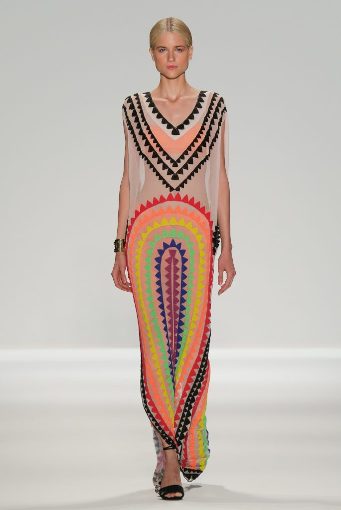Spring was in the air in Mara Hoffman's collection.