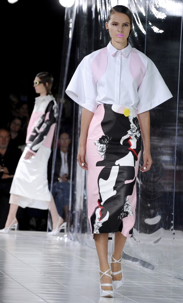 The Prabal Gurung Spring 2014 collection is modeled during Fashion Week, Saturday, Sept. 7, 2013, in New York. (AP Photo/Louis Lanzano)