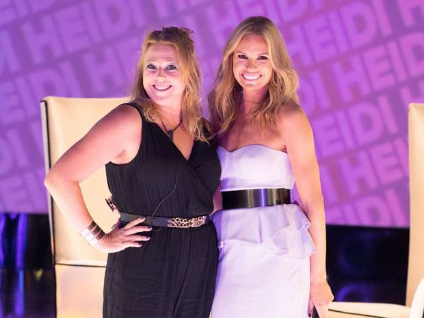 Heidi Anderson with host Sonia Kruger.