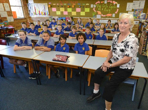 NO BARRIERS: Grafton Public School teacher and amputee Fiona McCormack in her classroom.