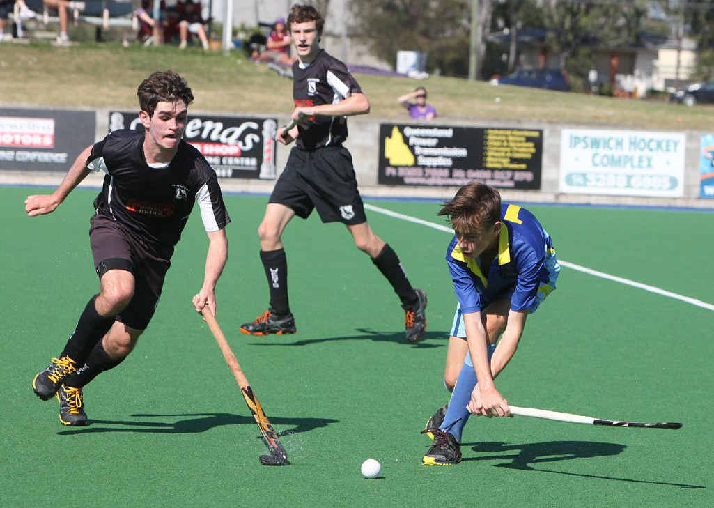 HANDY EFFORTS: Skilful Wests and Hancocks players jostle for possession in the J1 grand final.