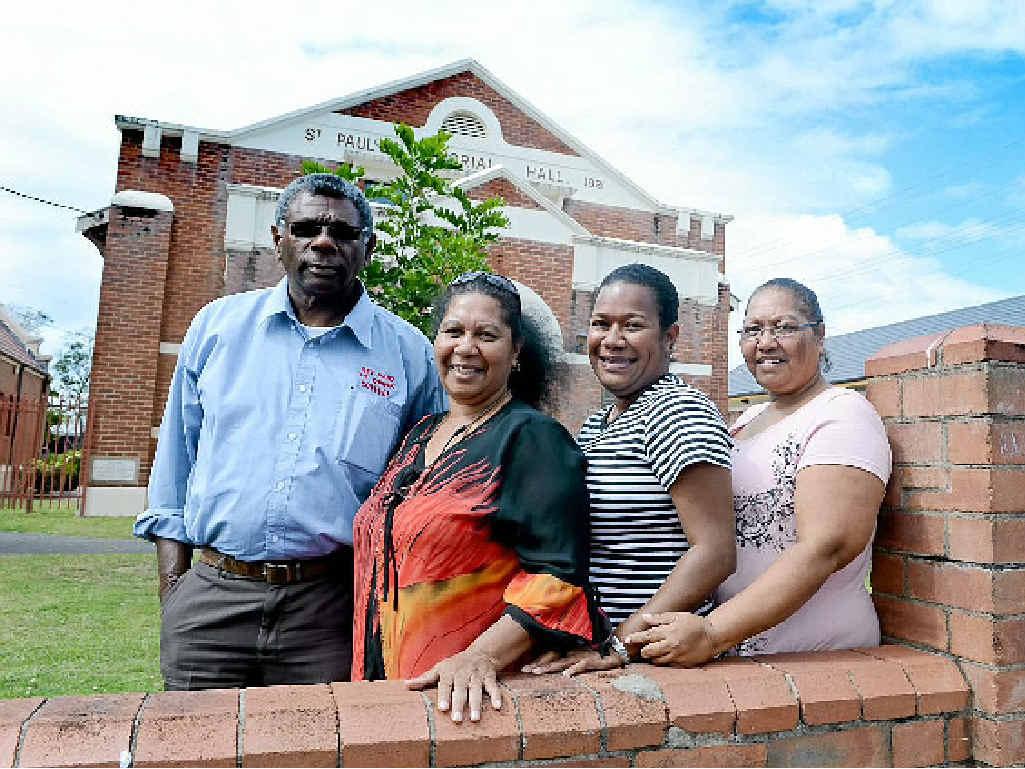 INVOLVED: From left, Pastor Gordon Johnson, Lois Johnson, Cissy Vora, and Maryanne Henderson, members of the Arising Aboriginal and Islander Ministries.