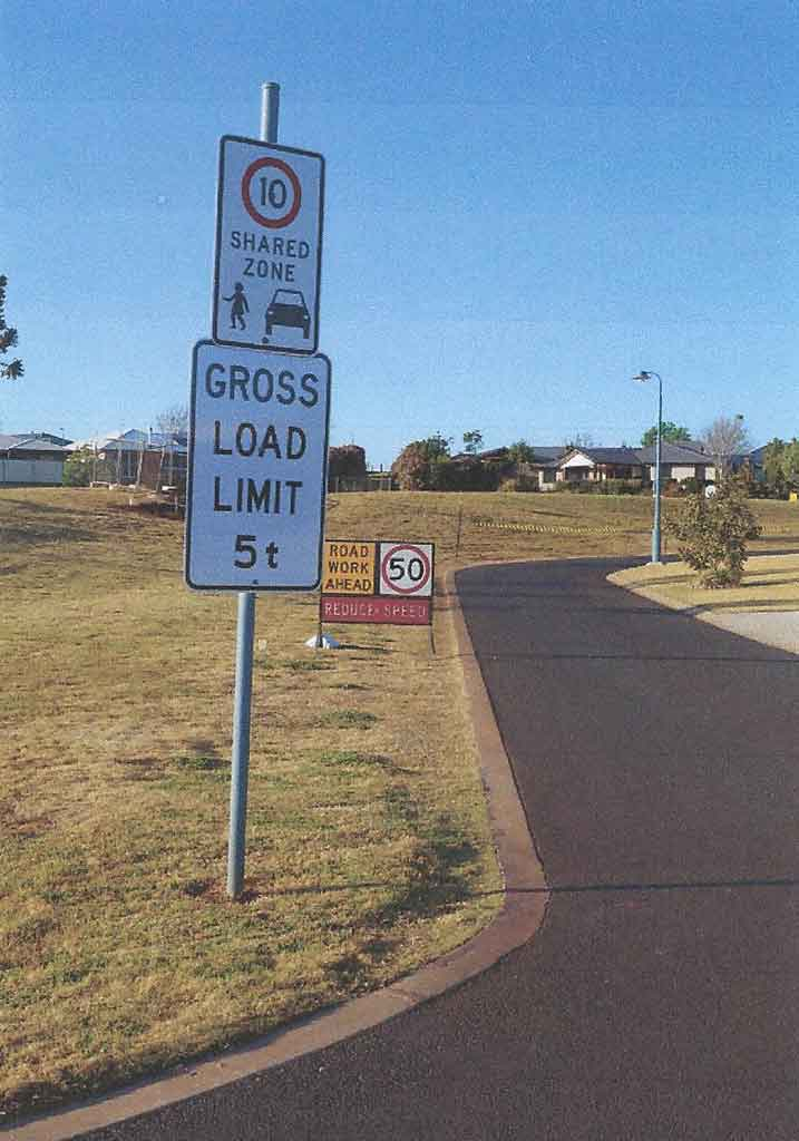 The confusing situation facing Highfields motorists.